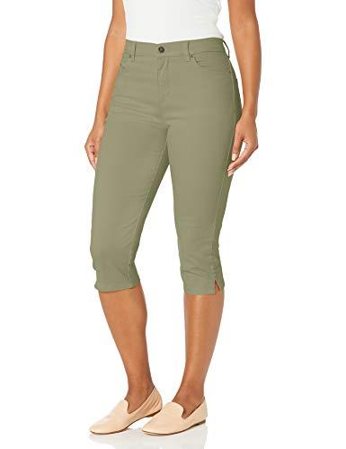 Gloria Vanderbilt Women's Plus Size Amanda Capri Jeans, Light Fern, 18W
