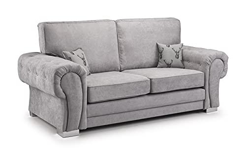 Honeypot - Sofa - Verona - Fullback - Corner Sofa - 3 Seater - 2 Seater - Footstool (Grey, 3 Seater)