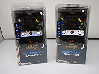 Galaga SP2-17717 Retro Bluetooth Speaker Lightweight and Portable, Rechargeable Bluetooth Speaker, Lights up for Super Fun,Works with All Bluetooth Devices, Great Technology