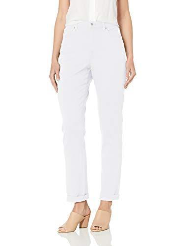Gloria Vanderbilt Amanda Classic - Pantalón de Jean cónico para Mujer, Vintage Blanco, 32