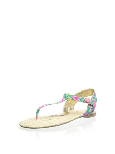 Elaine Turner Emory Batik Print Fabric Flat Sandal 9.5 M