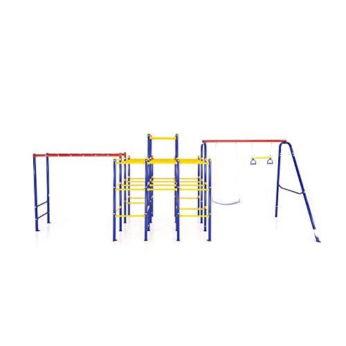 ActivPlay Modular Jungle Gym with Swing Set and Monkey Bars Kit, APJGC3,...