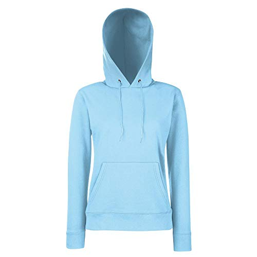 Fruit of the Loom - Classic Lady-Fit Kapuzenpullover 'Hooded Sweat' M,Sky Blue