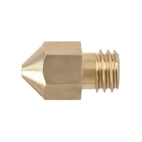 ZSHENG 1pcs Boquilla de latón M6 para MK8 Extruser (Color : 1PCS For 3mm, Size : 0.5mm)