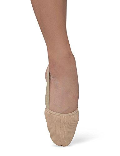 Danshuz Girl's Freedom Canvas Half Sole Pleated Toes Ballet Shoes - Tan, XS