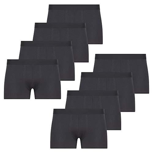 SES Boxershorts Men Herren 8er Pack Unterwäsche Unterhosen Männer Retroshorts Black (M)