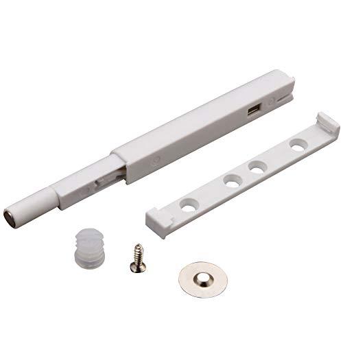 Juego de 10 piezas de cierre de amortiguador con sistema de empuje para abrir, cierre magnético para puerta, cajón, armario, Blanco, Tamaño libre