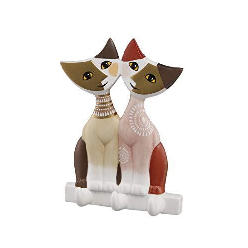 Goebel Wohnaccessoires Katzenpaar, Porzellan, Mehrfarbig, 10x3x14 cm