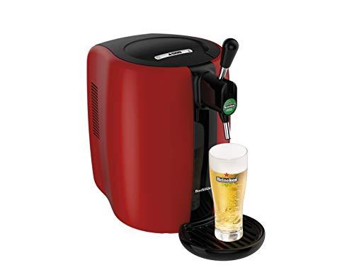 Seb Beertender VB310510 - Tirador de cerveza a presión (5 L, indicador de temperatura, 70 W), color rojo