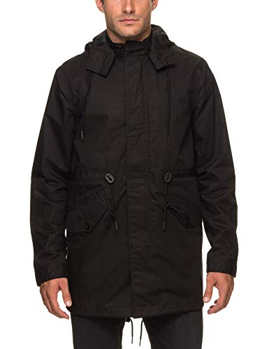 Fred Perry Fishtail Parka in Black Medium