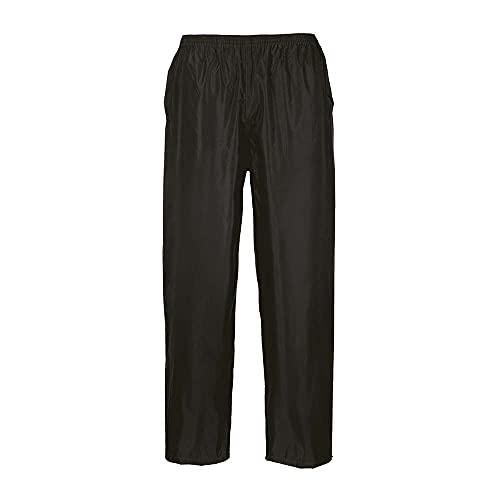 Portwest Pantaloni Impermeabili Classic, Colore: Nero, Taglia: L, S441BKRL