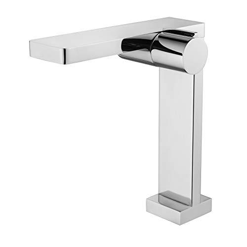 Design Waschtischarmatur Badarmatur NT3220C - Hoher Auslauf - Wasserhahn in Chrom