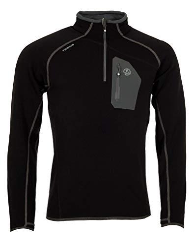 Ternua Kratu 1/2 Zip M T-Shirt pour Homme XL Noir (Black)