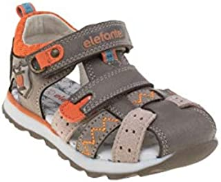 elefanten Boys - Toddler Closed Toe Sandals with Extra Soft Padded Leather Insole, Protection and Comfort