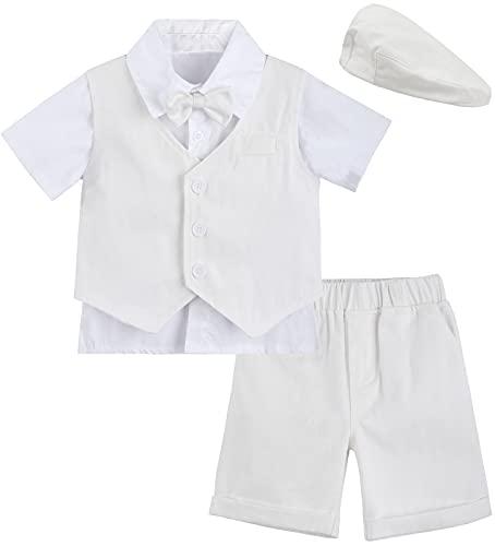 Mintgreen - Conjunto de 4 piezas para bebé o niño, diseño de mariposa, color blanco marfil 3-4 Años