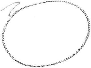 SULTAN Accessories White Non Precious Metal Belly Chain, Kamarband for Women (39-Inch)