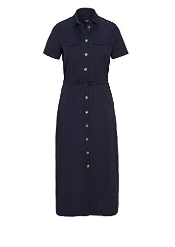 s.Oliver BLACK LABEL Damen Hemdblusenkleid mit Bindeband navy 36