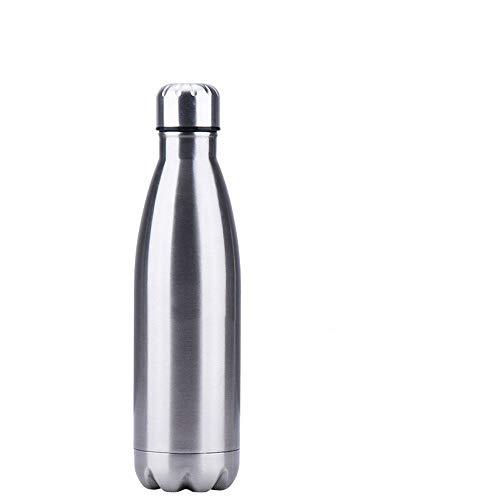 Xiaobing Botella de Deportes de Moda de Acero Inoxidable 304 500 ml Botella de Cola de Pintura Brillante Termo-Color verdadero-350 ml