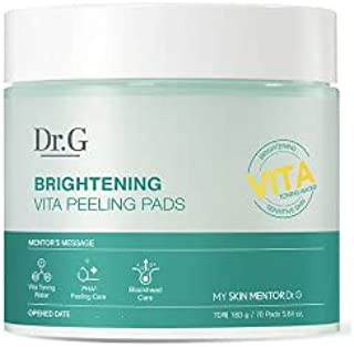 [Dr.G] Brightening Vita Peeling Pads (70EA) - Vita Toning Water, PHA Peeling Care, Blackhead Care, K-beauty
