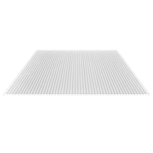 Stegplatte | Hohlkammerplatte | Stegdreifachplatte | Material Polycarbonat | Breite 1200 mm | Stärke 16 mm | Farbe Glasklar
