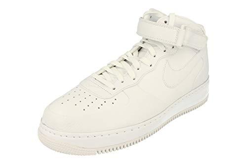 Nike Herren NikeLab Air Force 1 Mid Basketballschuhe, Weiß/Schwarz (Weiß/Weiß-Weiß-Schwarz), 45 EU