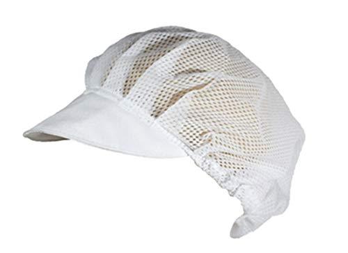 Gastro Netzhaube mit Schirm aus Polyester weiß, Hygienehaube, Hygienemütze