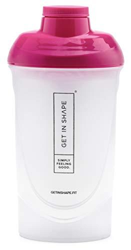 Fitness Shaker für Slim Shake oder Protein Shake mit Sieb - 600ml Fassungsvermögen - Der Eiweiß Shaker von Get in Shape