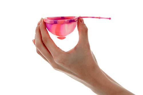 Lumma Unique - Coppetta Mestruale Flessibile con Cordoncino in Silicone Medico - Coppetta Riutilizzabile - Nessuna perdita - Confortevole e Molto morbida - Pink Love, L