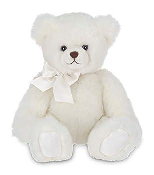 Bearington Aspen White Plush Stuffed Animal Teddy Bear 17 inches