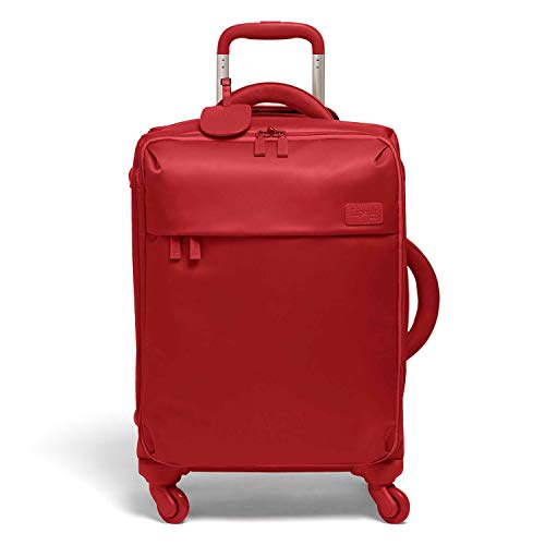 Lipault - Original Plume Spinner 55/20 Luggage - Carry-On Rolling Bag for Women - Cherry Red