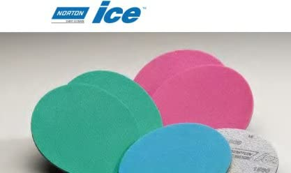 Norton Shipping included Ice 3000 grit Foam Finishing Discs Under blast sales D 150mm - inch 15 6