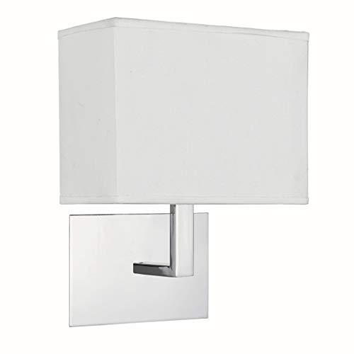 Wandleuchte in Chrom Bauhaus 1xE27 bis zu 60 Watt 230V aus Metall & Stoff Schlafzimmer Küche Wohnzimmer Esszimmer Lampe Leuchten Beleuchtung