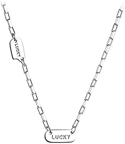 ZPPYMXGZ Co.,ltd Collar Collar Cuadrado de Moda con Cadena de clavícula con Letras de Marca