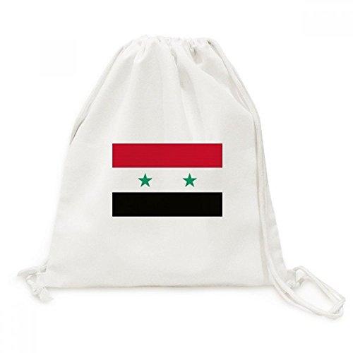DIYthinker Syrië Nationale Vlag Azië Land Canvas Trekkoord Rugzak Reizen Shopping Tassen