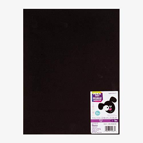 Darice Foam Sheet 9 inch x 12 inch 2mm Black 1144-12 (10-Pack)