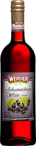 WERDER Schwarzer Johannisbeer Wein 0,75 l Alk. 9% vol