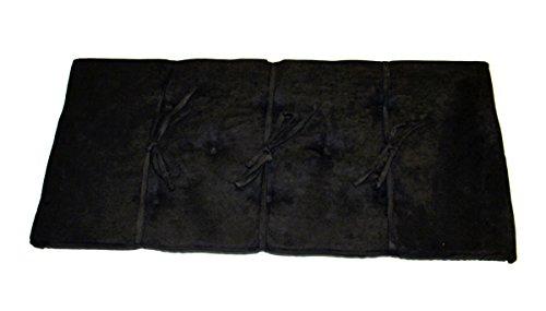 Black Piano Bench Cushion Pad 14' X 30' Suede Fabric Ebony