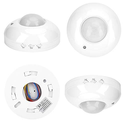 Pssopp Sensor de Infrarrojos, Sensor de Movimiento por Infrarrojos Detector de Infrarrojos Interruptor de luz infrarroja de 110 V-240 V para lámpara de luz LED