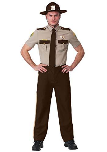 Adult Super Troopers Costume Super Troopers Uniform Costume Large Brown