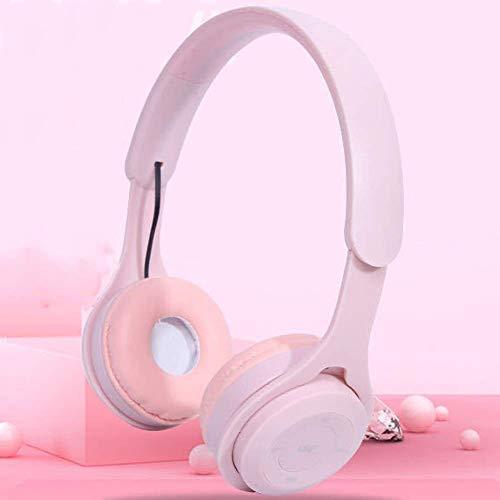 Auriculares inalámbricos de alta gama alta sobre oído, tiempo de juego con bajos profundos, monumentos de proteína de memoria suave, Modo incorporado Modo por cable PC / Teléfonos celulares / TV (Colo