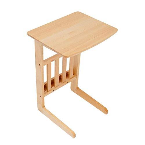H-CAR Tavolino da salotto tavolino terminale tavolino in legno semplice e moderno tavolino da caffè facile da montare in legno massiccio per soggiorno, camera da letto, divano, tavolini finali