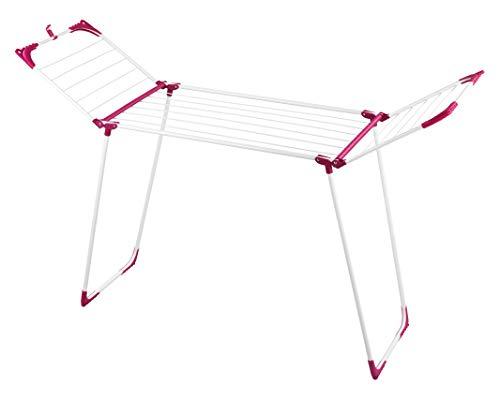 WENKO Wäschetrockner Summer Dry 13 m - 13 m Trockenlänge, Metall, 153 x 76 x 46 cm, Weiß
