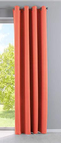 Cortina Opaca Newyork Coral Alto x Ancho 245 x 140 cm, 1 Unidad, Cortina térmica, Opaca, con Ojales, insonorizante, con protección UV, 201920600