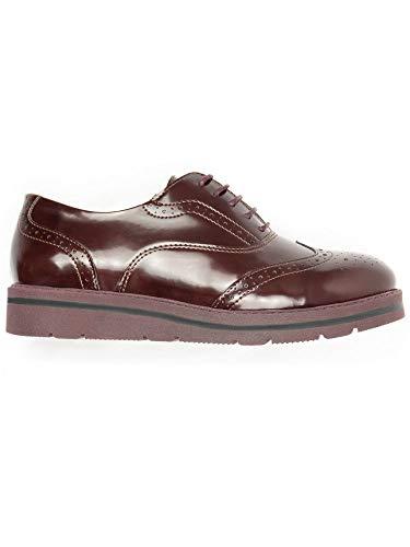 Will's Vegan zapatos para mujer Flatform Brogues vino, color Rojo, talla 37 EU