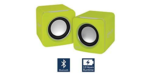 ARCTIC S111 BT - Tragbare Lautsprecher mit USB Anschluss, Mini Speaker mit überzeugender Klangqualität für Desktop-PC oder Laptop bis zu 12h Akkulaufzeit, kraftvolle Bässe und kompaktes Design - Lime