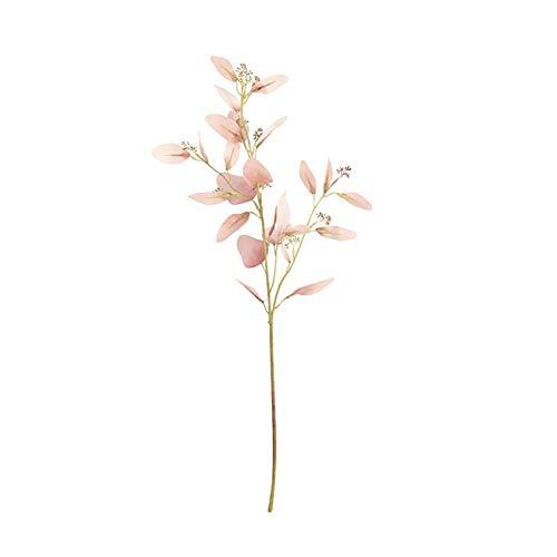 porfeet Foglie di Eucalipto Artificiale Finto Plastica Finto Fiore Essiccato Floras Plantes Ornamento per Display Balcone Balcone Arredamento da Giardino Cameo Brown