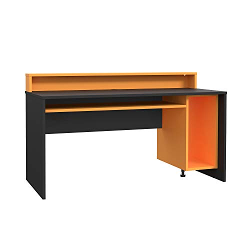 moebel-eins TEZO II Gaming Tisch Schreibtisch Jugendschreibtisch Kinderschreibtisch Schülerschreibtisch Zeichentisch Pult ohne Beleuchtung, Material Dekorspanplatte