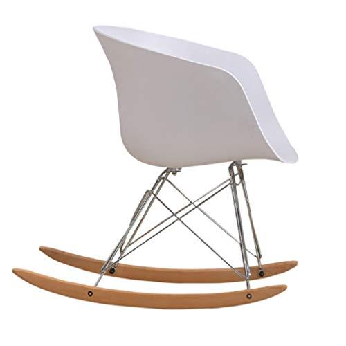 Tabouret eenvoudige schommelstoel, eetkamerstoel van kunststof, retro design, moderne meubels voor woonkamer, bureau, terras, kantoor, keuken, lounge, café en meer (45 x 55 x 70 cm)