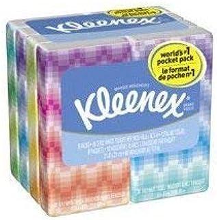 Professional Kleenex Facial Pocket 3-Ply Tissue - 10 Sheets per Pack / 8 Packs [Set of 2]