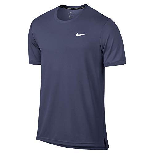 NIKE Court Dry Top Men Camisetas, Azul Oscuro, Medium para Hombre